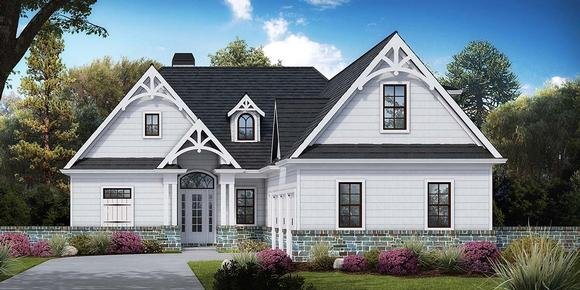 Country, Craftsman, Farmhouse, Ranch House Plan 97658 with 3 Beds, 3 Baths, 3 Car Garage Elevation