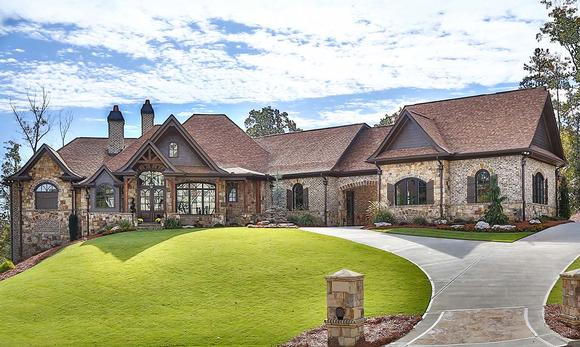 Craftsman, Ranch, Tuscan House Plan 97680 with 3 Beds, 4 Baths, 3 Car Garage Elevation