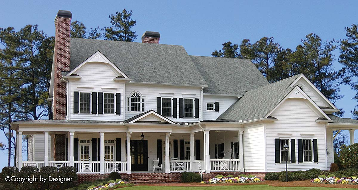 Country, Farmhouse, Southern, Traditional House Plan 97688 with 5 Beds, 6 Baths, 3 Car Garage Elevation