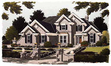 Traditional House Plan 97715 with 4 Beds, 4 Baths, 3 Car Garage Elevation