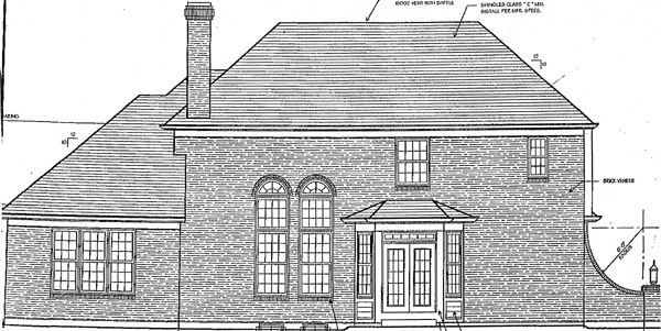 Traditional House Plan 97715 with 4 Beds, 4 Baths, 3 Car Garage Rear Elevation
