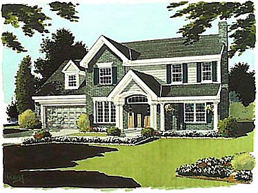 Bungalow Colonial House Plan 97718 Elevation