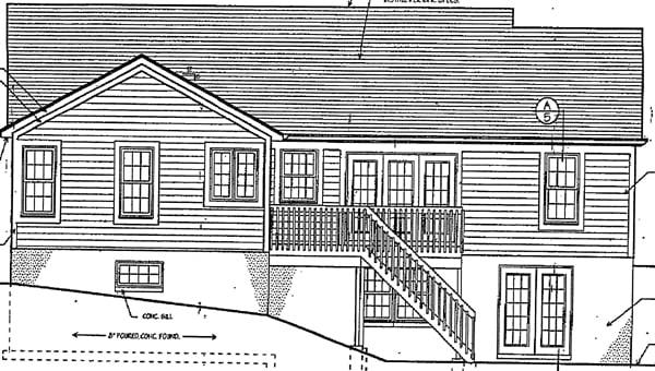Ranch House Plan 97724 Rear Elevation