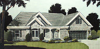 European Ranch Traditional House Plan 97740 Elevation