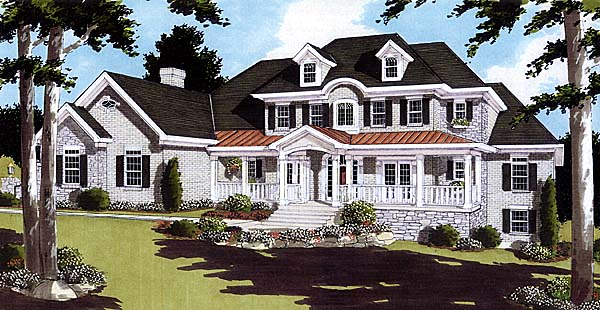 Colonial House Plan 97756