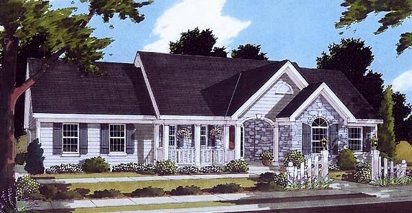 Bungalow Ranch House Plan 97760 Elevation