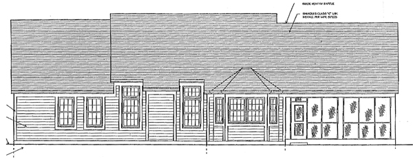 Bungalow Ranch House Plan 97760 Rear Elevation