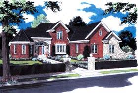 European , Victorian House Plan 97761 with 3 Beds, 3 Baths, 3 Car Garage Elevation