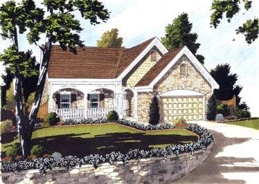Bungalow House Plan 97763 Elevation
