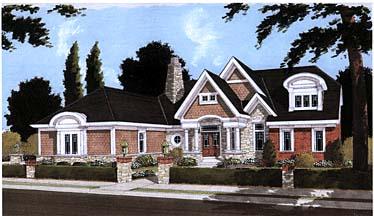 Bungalow Tudor House Plan 97765 Elevation
