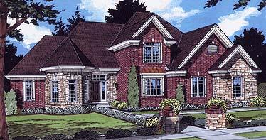 Bungalow European House Plan 97766 Elevation