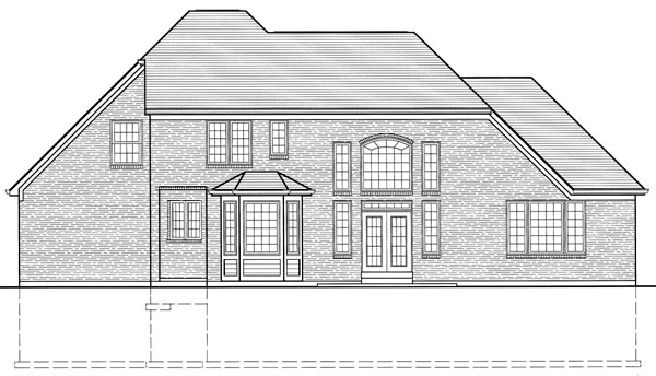 Bungalow European House Plan 97766 Rear Elevation