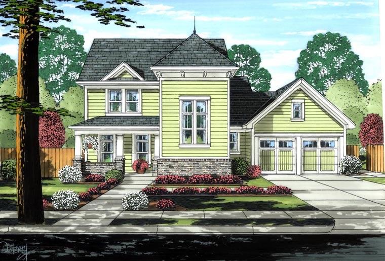 Victorian House Plan 97767 Elevation