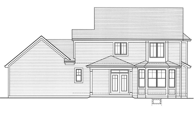 Victorian House Plan 97767 Rear Elevation