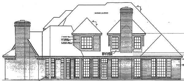 Bungalow European French Country House Plan 97805 Rear Elevation