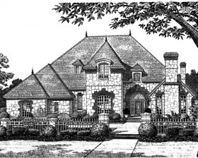 European French Country Traditional Tudor House Plan 97832 Elevation