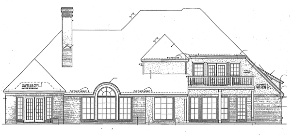 Bungalow Colonial European French Country House Plan 97843 Rear Elevation