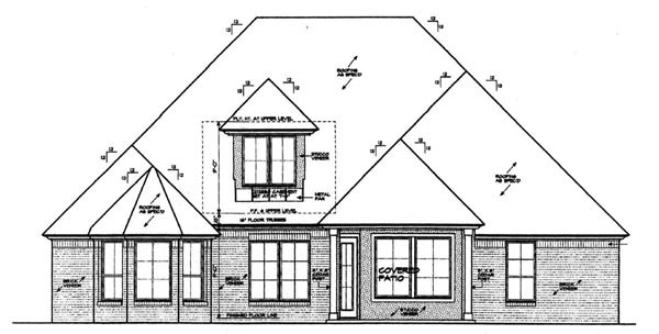 Country, European House Plan 97860 with 3 Beds, 3 Baths, 3 Car Garage Rear Elevation