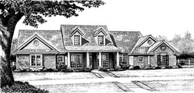Country House Plan 97867 with 3 Beds, 3 Baths, 2 Car Garage Elevation