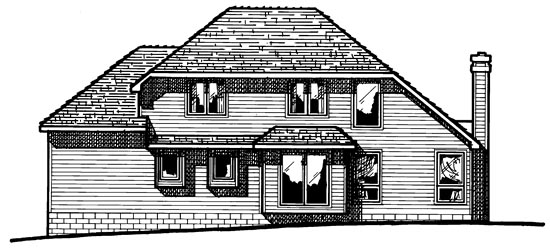Traditional House Plan 97908 Rear Elevation