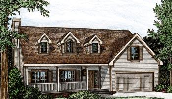 Bungalow Cape Cod House Plan 97913 Elevation