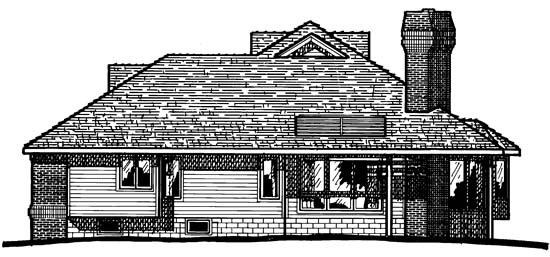 Traditional House Plan 97917 Rear Elevation