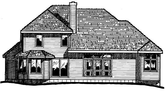 European House Plan 97918 Rear Elevation