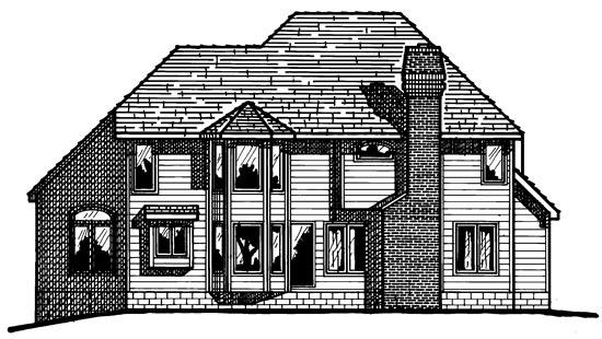 Colonial European House Plan 97919 Rear Elevation