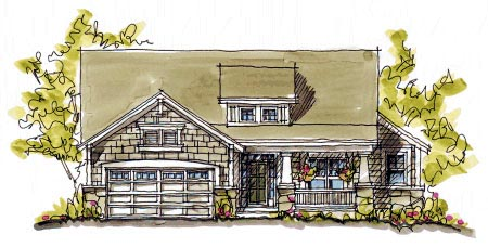 Bungalow Country Craftsman House Plan 97939 Elevation
