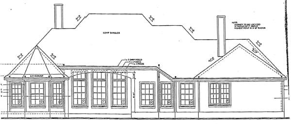 European House Plan 97945 Rear Elevation