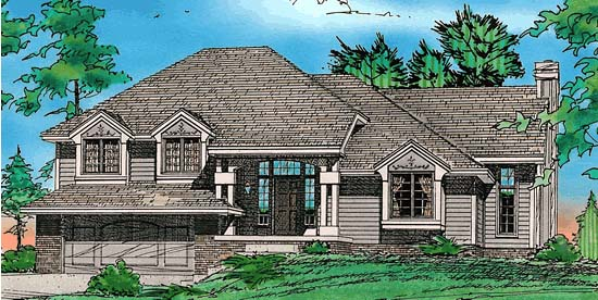 Country European House Plan 97949 Elevation