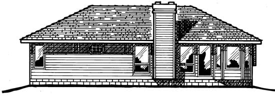 Traditional House Plan 97956 Rear Elevation
