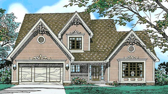 Elevation of Country   House Plan 97967