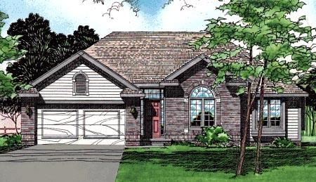 European Traditional House Plan 97975 Elevation