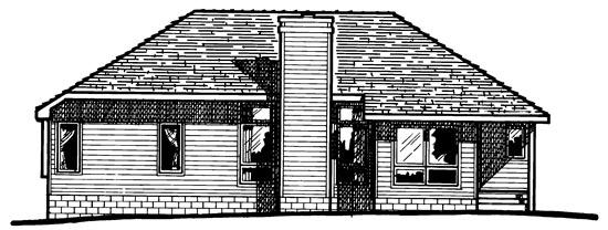 European Traditional House Plan 97975 Rear Elevation