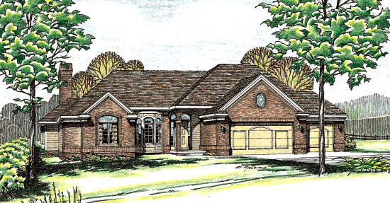 Traditional House Plan 97977 Elevation