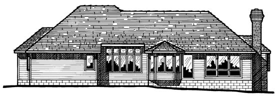 Traditional House Plan 97977 Rear Elevation