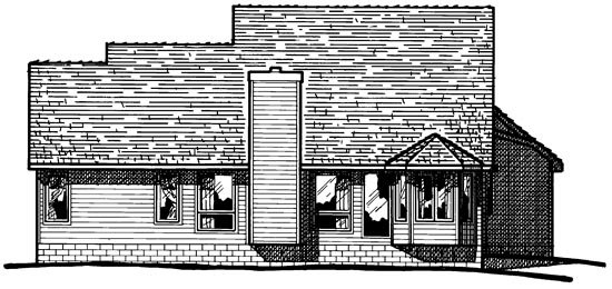 Country Traditional House Plan 97986 Rear Elevation