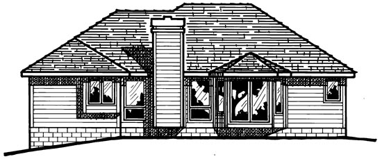 Traditional House Plan 97988 Rear Elevation