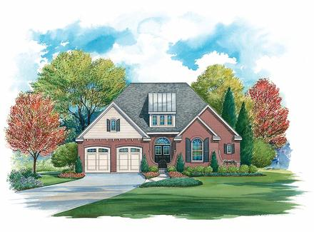 Traditional House Plan 97995 with 4 Beds, 4 Baths, 2 Car Garage