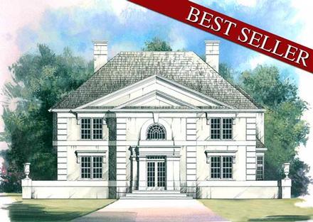 Colonial, European House Plan 98200 with 4 Beds, 4 Baths, 3 Car Garage