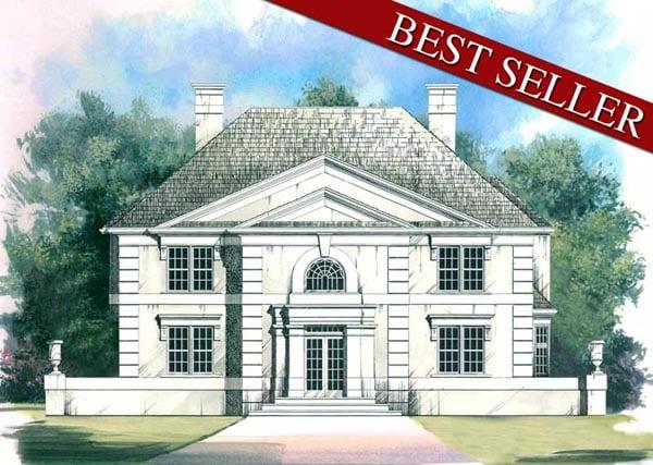 Colonial European House Plan 98200 Elevation