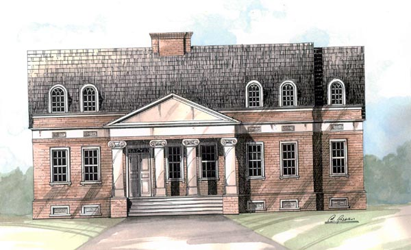 Colonial European House Plan 98203 Elevation