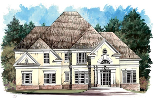 European House Plan 98204 Elevation