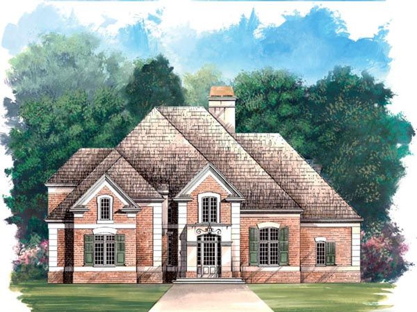 European Greek Revival House Plan 98205 Elevation