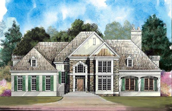 European Greek Revival House Plan 98207 Elevation