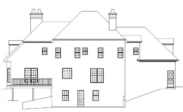 European Greek Revival House Plan 98207 Rear Elevation