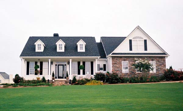 Cape Cod, Colonial, Country, One-Story House Plan 98224 with 3 Beds, 3 Baths, 2 Car Garage Picture 1