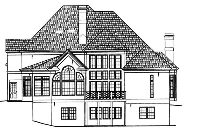 European Greek Revival Victorian House Plan 98226 Rear Elevation