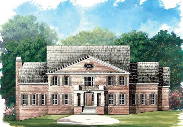 Colonial Greek Revival House Plan 98229 Elevation